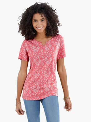 Shirt - korallenrot