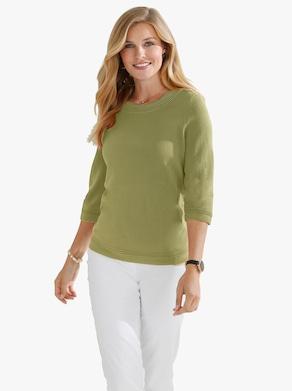 Pullover - rietgroen