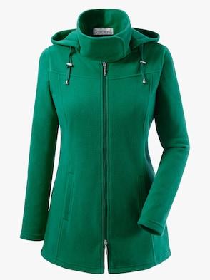 Fleece-Jacke - smaragdgrün