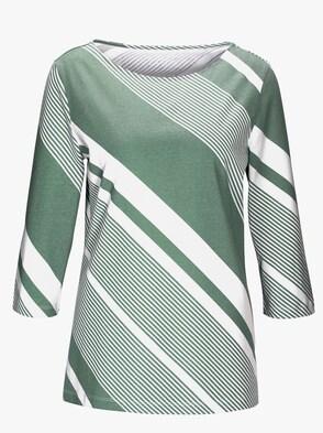 Shirt - grün-gestreift