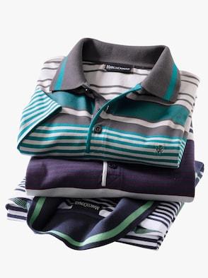 Langarm-Shirt - petrol-anthrazit
