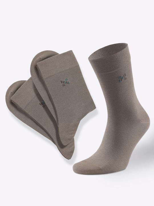 Rogo Herren-Socken - oliv