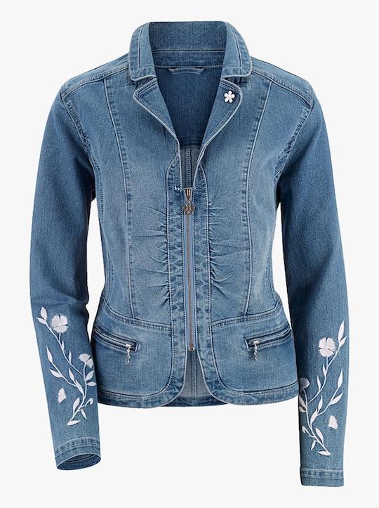 Jeansblazer - blue-bleached