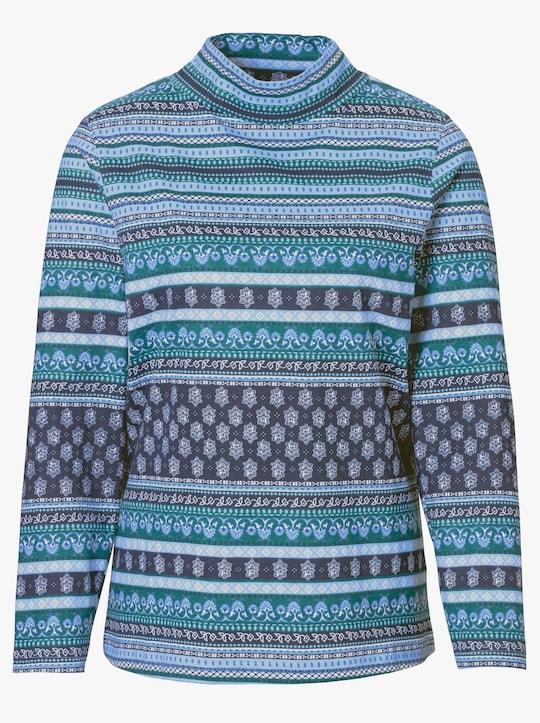 Shirt - turquoise gestreept