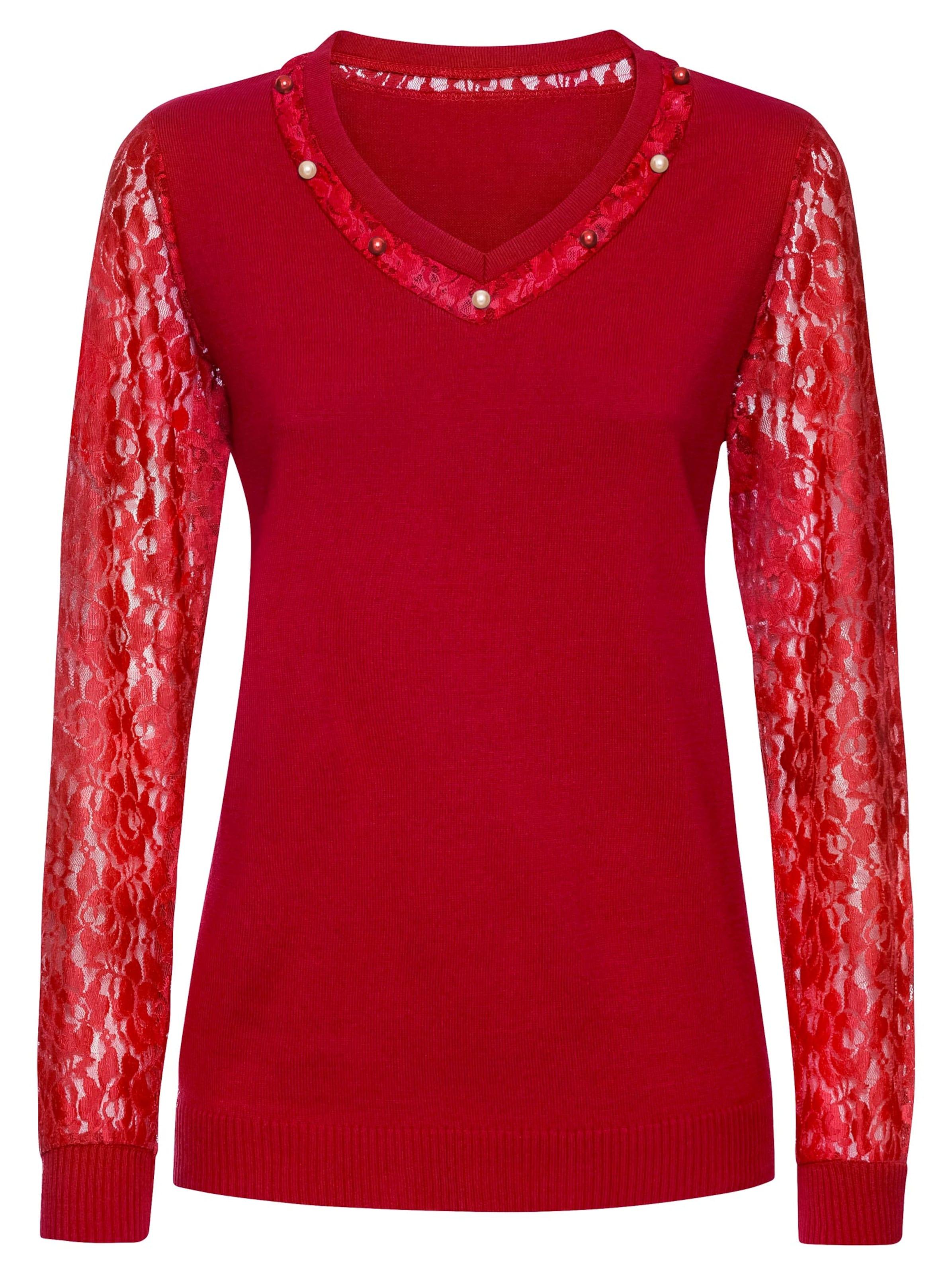 witt weiden -  Damen Spitzen-Pullover rot