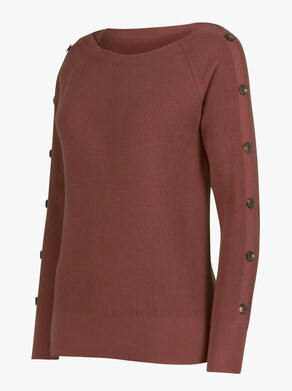 Pullover - rotbraun