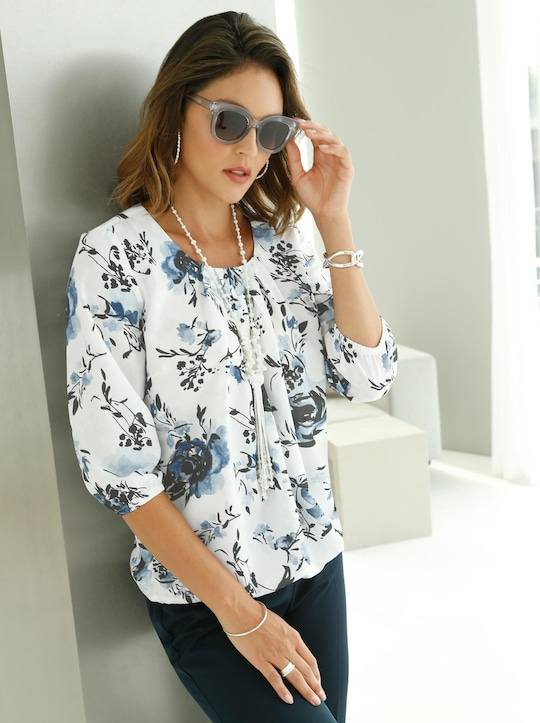 Fair Lady Blouse - bleu geprint