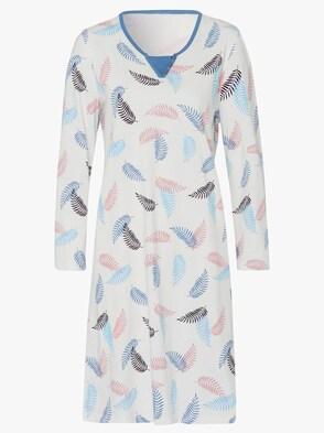 Nachthemd - wit/blauw geprint
