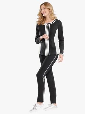 Shirtjasje - zwart/wit
