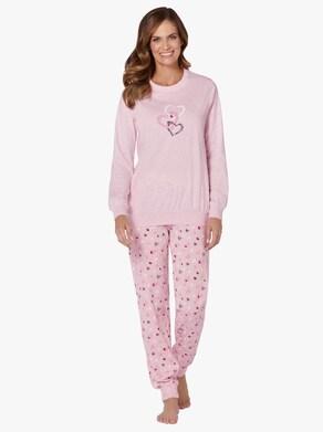 Schlafanzug - rosé-meliert