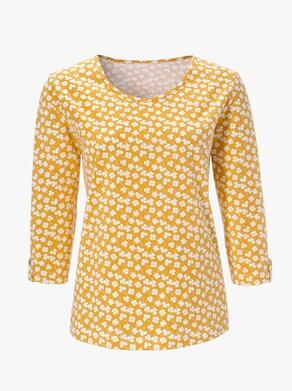 Shirt - oker gedessineerd