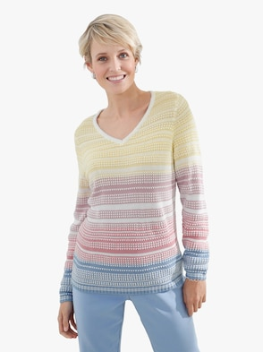 Pullover - bont gestreept