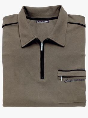 Kurzarm-Poloshirt - schilf
