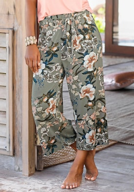 LASCANA Culotte - khaki-bedruckt