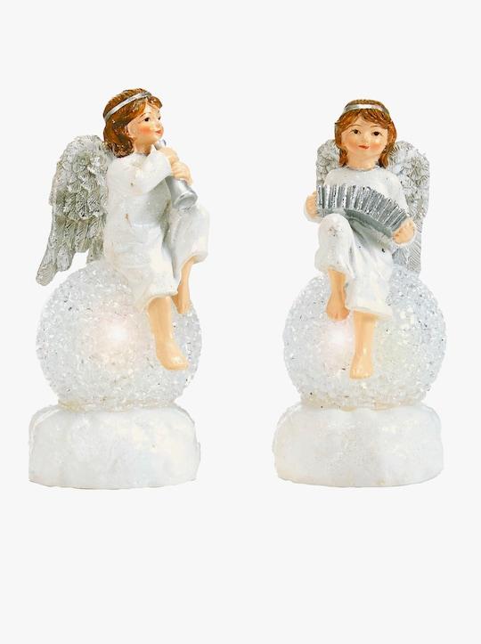 Engel auf Kugel - weiß