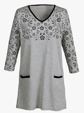 Dlhé tričko - sivá melírovaná