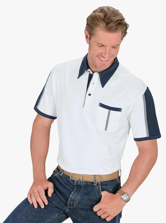 Polokošile - bílá-námořnická modrá