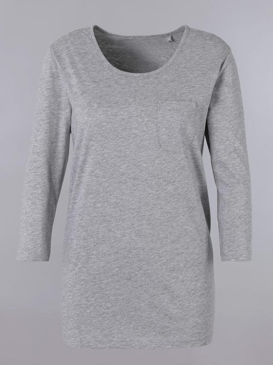 Schlafanzug-Shirt - hellgrau-meliert