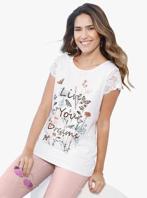 Shirt - wit geprint