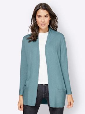 Lang vest - winterturquoise