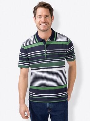 Marco Donati Kurzarm-Shirt - grün-marine
