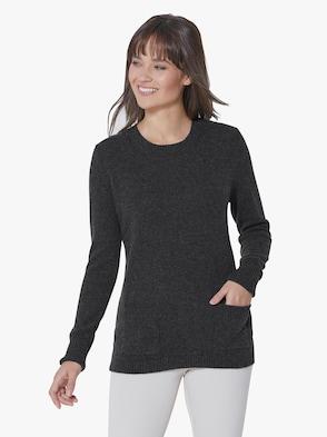 Pullover - anthrazit-meliert