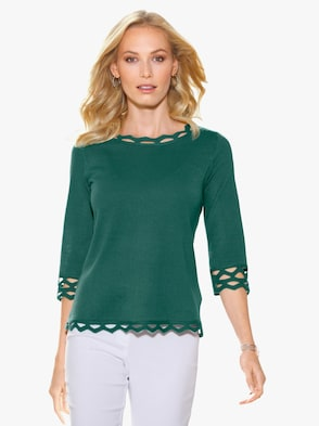Pullover - donkergroen