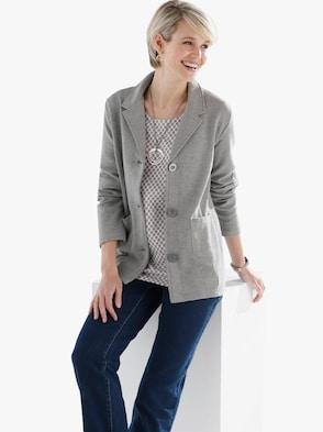 Shirtblazer - grau-meliert