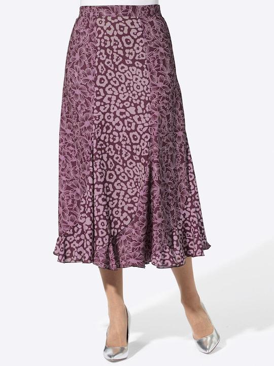 Fair Lady Rock - burgund-mauve-bedruckt