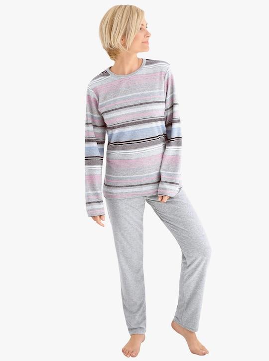 Normann Schlafanzug - grau-meliert
