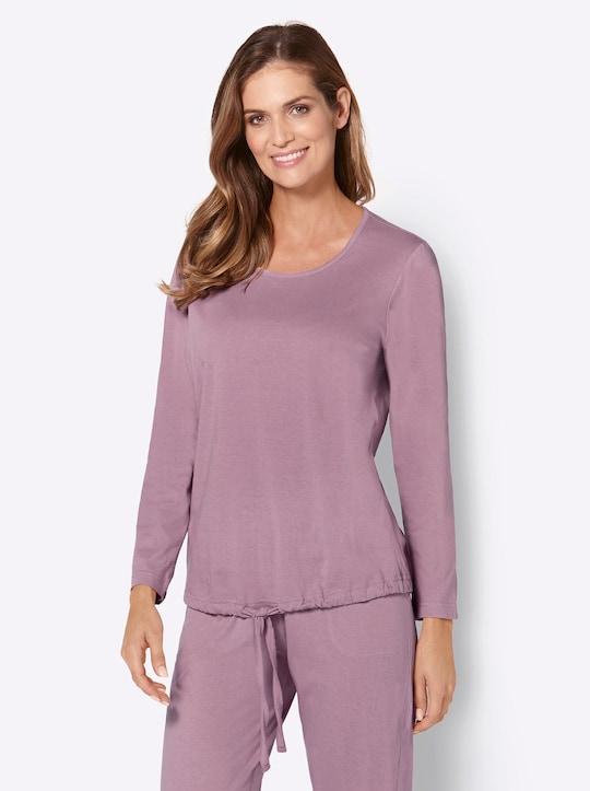 wäschepur Schlafanzug-Shirts - rosé + blau