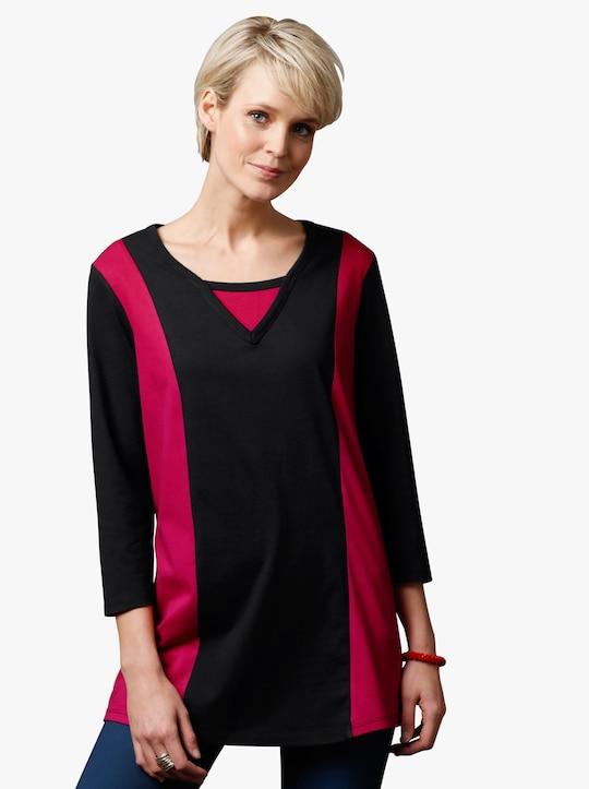 Shirt - zwart/rood