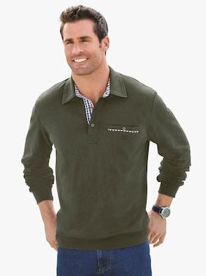Langarm-Shirt - oliv