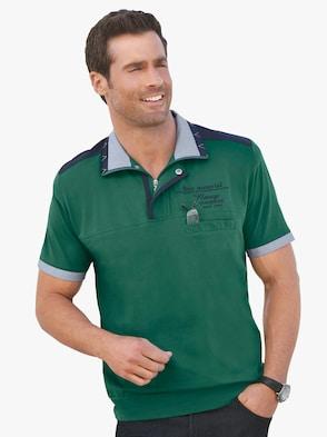 Kurzarm-Shirt - smaragdgrün