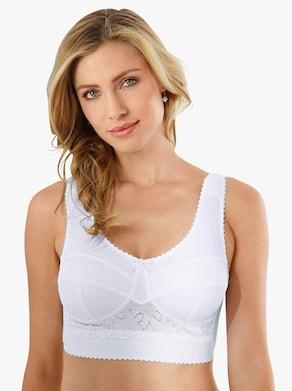 Entlastungs-BH ohne Bügel - weiß