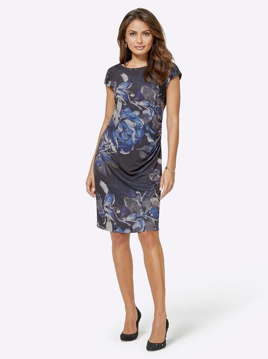 Jersey-Kleid - schwarz-bedruckt
