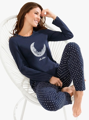 Schlafanzug - marine-bedruckt