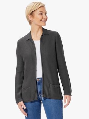 Pletený kabátek - antracitová