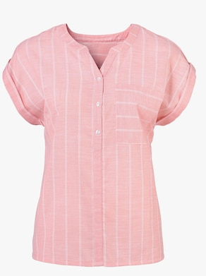 Bluse - flamingo-gestreift