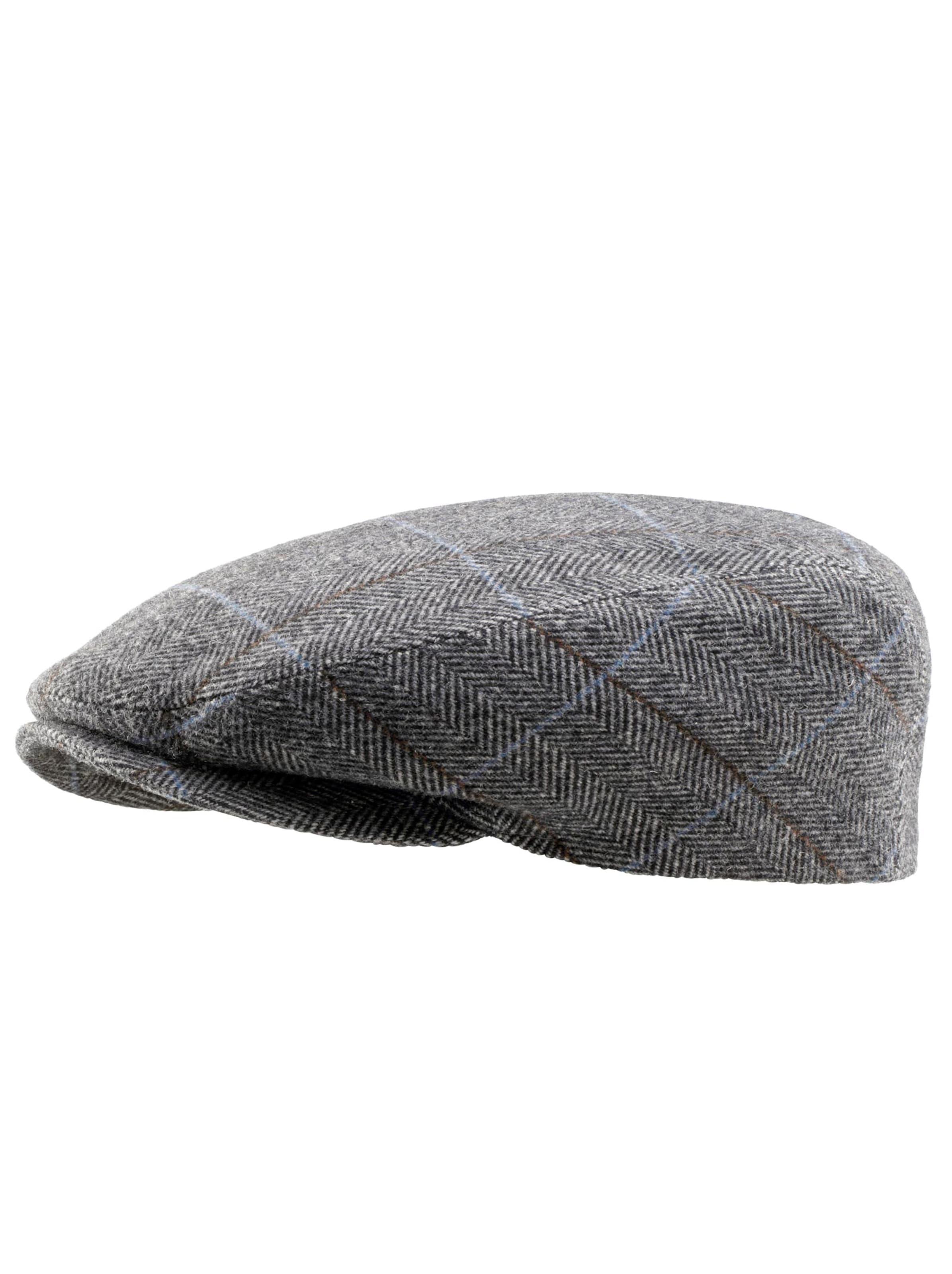 witt weiden -  Herren Mütze grau-gemustert
