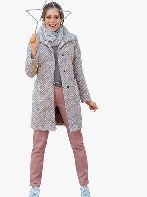 Mantel - rosé-grau