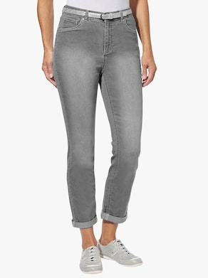Collection L 7/8 kalhoty - šedá denim