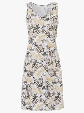 Sommerkleid - beige-braun-bedruckt