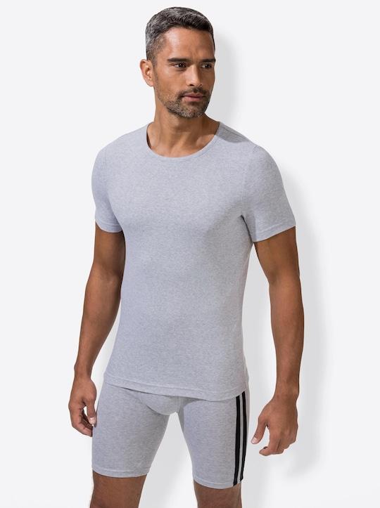 wäschepur Shirt - grau-meliert