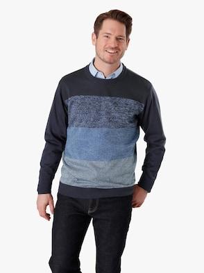Pullover - marine-gemustert