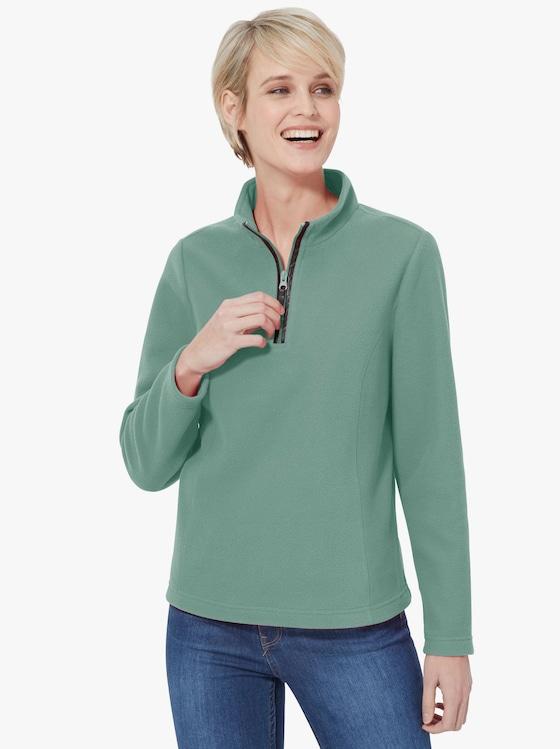Fleecové tričko - tyrkysová