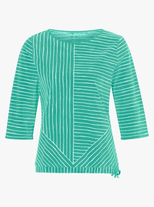 Shirt - blaugrün-geringelt