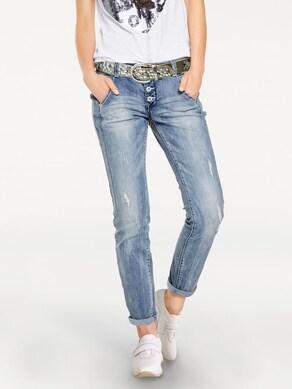 Linea Tesini Boyfriend Jeans - bleached