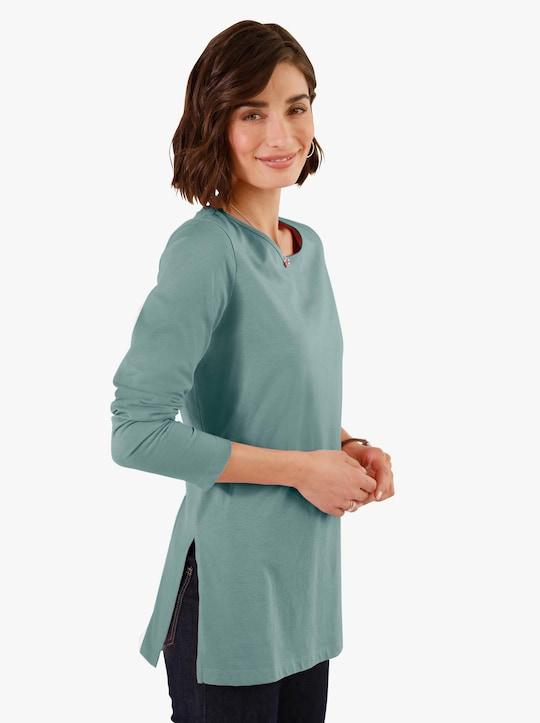Dlouhé tričko - nefritová