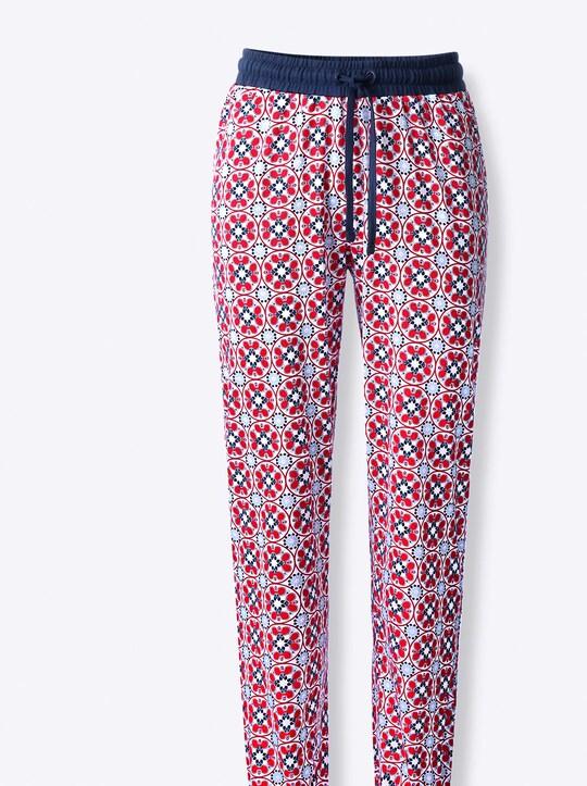 wäschepur Schlafanzug-Hose - erdbeere-bedruckt